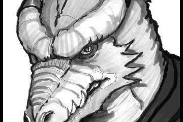 Nyx, Dragonborn Druid