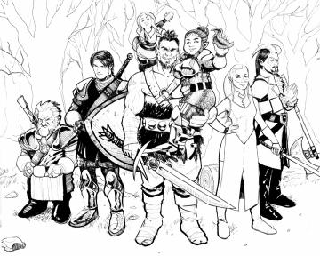 The Vaydur Show - Cedric, Harry, Seraphina, Vaydur, Hadorah, Lia and Zanzabar