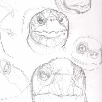 Gakk! turtle sketches